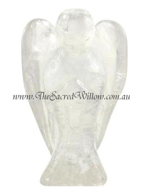 5cm Clear Quartz Carved Crystal Angel