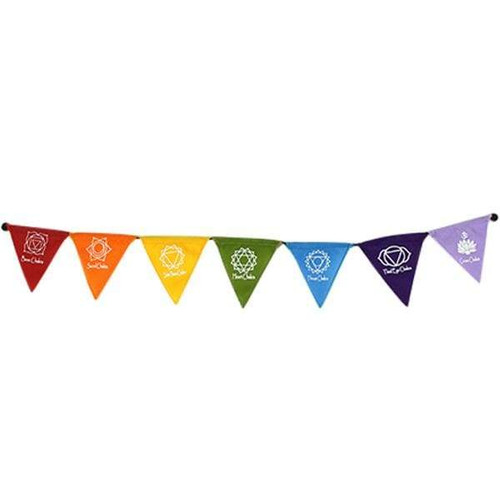 Chakra Affirmation Flags Magnetised Triangle Bunting 62cm