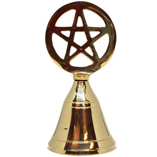 Brass Pentacle Altar Bell 9cm.