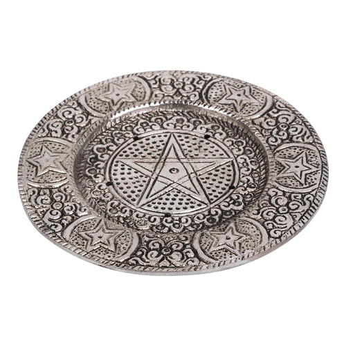 Aluminium Pentacle Ash Catcher Incense Burner 11.5cm