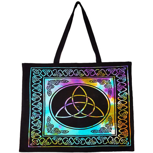 Triquetra Tie-Dyed Tote Bag