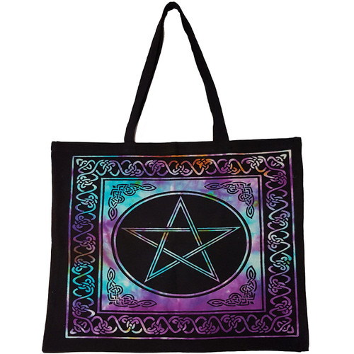 Pentacle Tie-Dyed Tote Bag