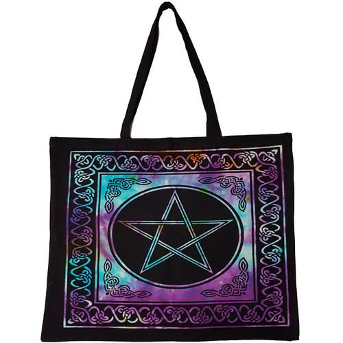 Pentacle Tie-Dyed Tote Bag