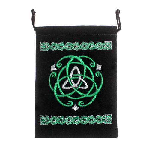 Celtic Black Velveteen Bag