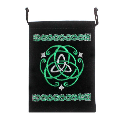 Celtic Black Velveteen Bag