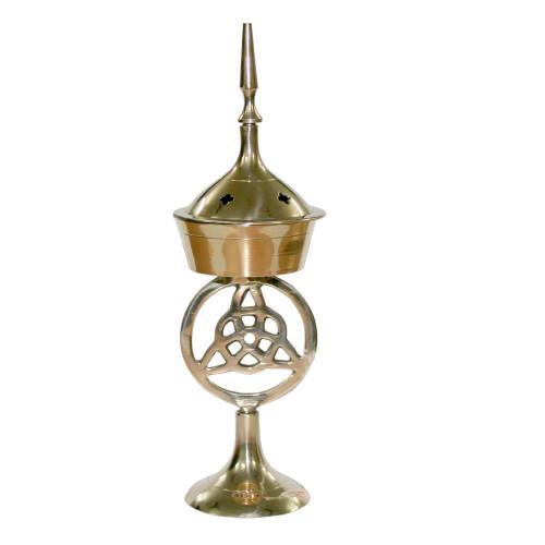 17cm Triquetra Brass Incense Burner