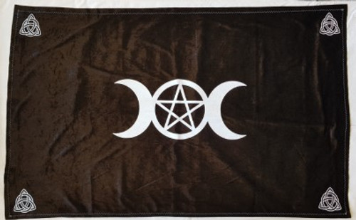 Black Velvet Altar Cloth Hand Made