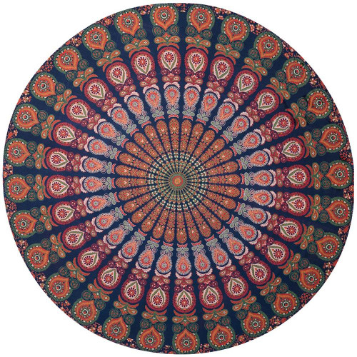 Round Mandala Tapestry 93cm 100% cotton
