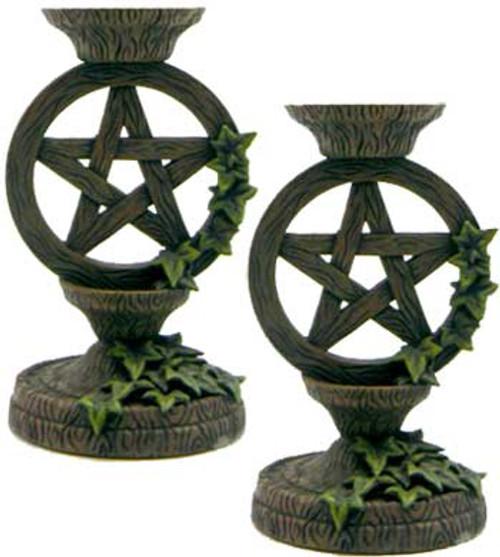 Pentagram Taper Candle Holder (set of 2)