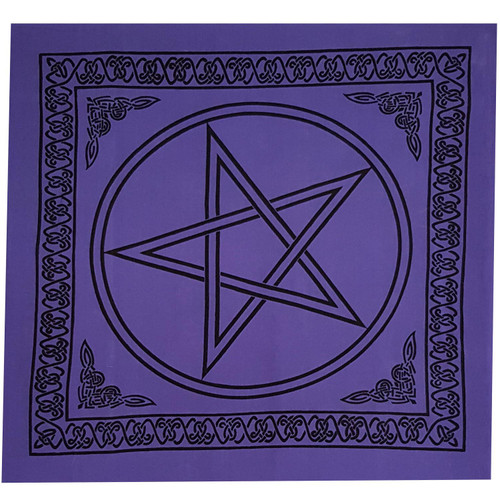 Purple Pentacle Altar Cloth 1m x 1m