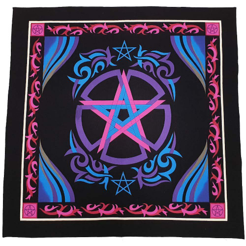 Celtic Pentacle Altar Cloth 90cm x 90cm