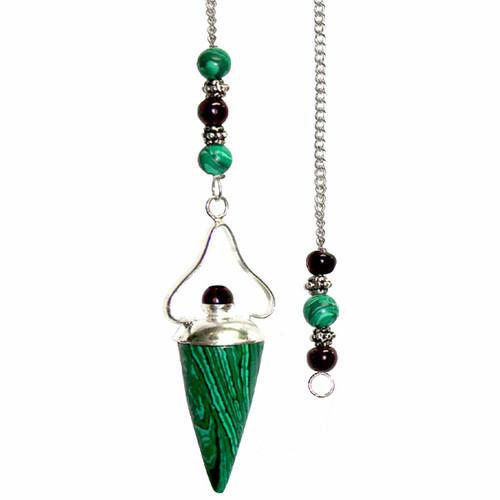 Malachite and Garnet Pendulum 33cm