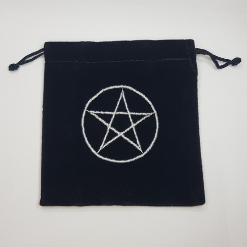 Pentacle Velveteen Drawstring Bag 10cm