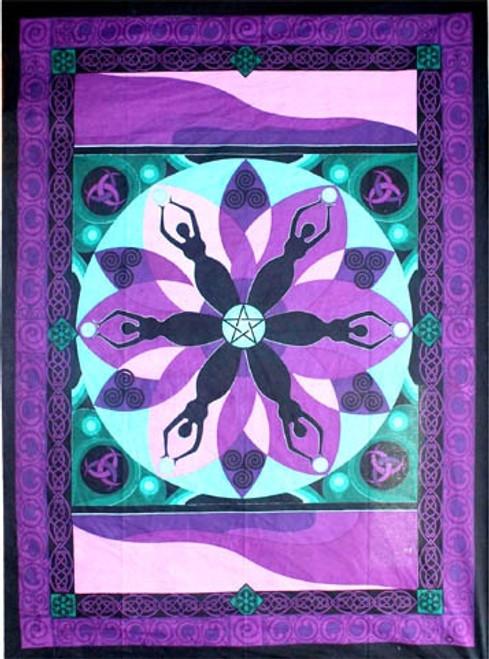 Moon Goddess Tapestry 208cm x 132cm 100% Cotton