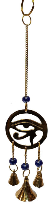 Eye of Horus Brass Wind Chime