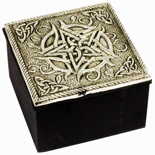 Pentacle Metal Trinket Box