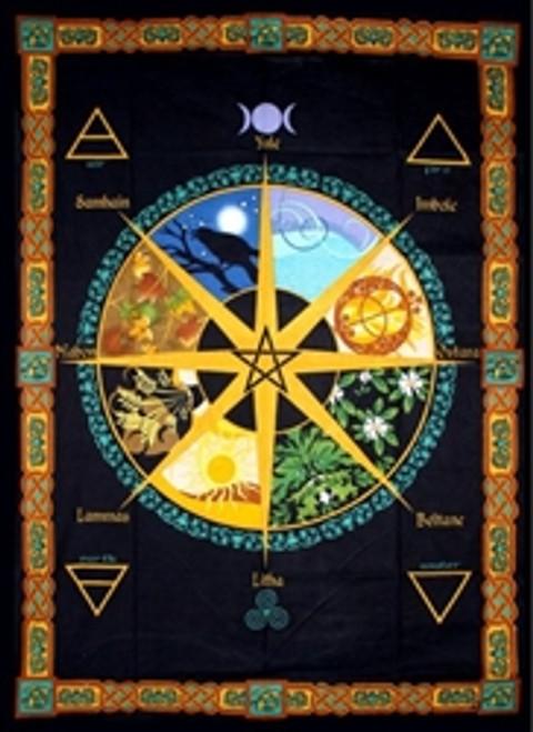 Pagan Calendar Tapestry 100% Cotton