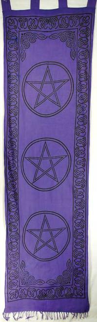 "Purple Pentagram Curtains 18"" x 72"""