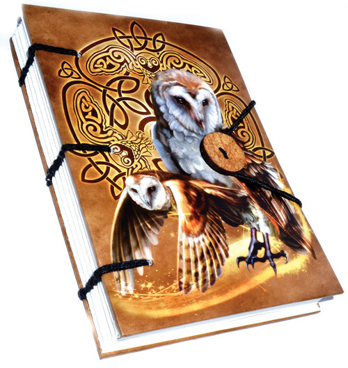 Celtic Owl Journal Handmade Parchment