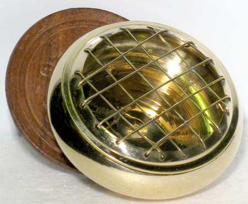 Incense Burner Gold Toned Brass Screen