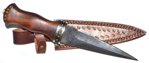 Rosewood Damascus Athame/Decorative Dagger 32cm