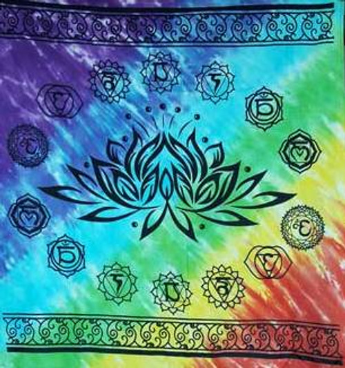Chakra Lotus altar cloth 90cm x 90cm 100% Cotton