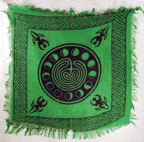 Moon Phase Altar or Tarot Cloth 45cm