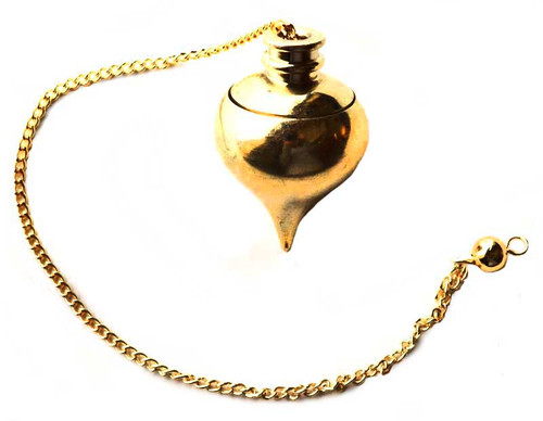 Gold Plated Pendulum With Compartment 21cm