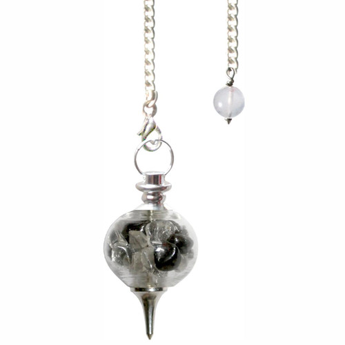 Hematite and Clear Quartz Pendulum