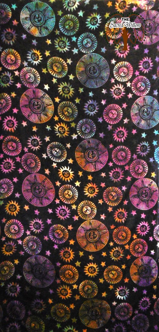 Suns Stars Multi Color Tapestry 208cm x 132cm 100% Cotton