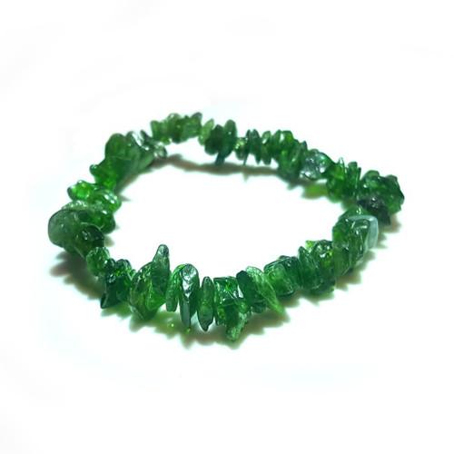 Diopside Gemstone Chip Stretch Bracelet