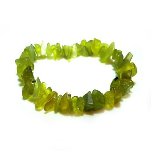 Lemon Jade Gemstone Chip Bracelet