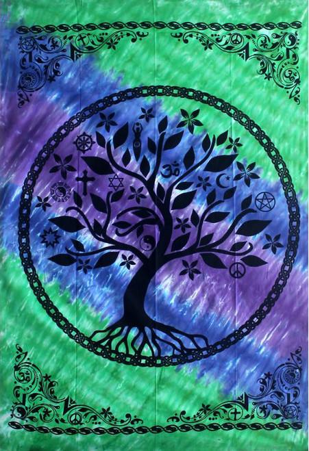 Tree Of Life Tapestry 208cm x 132cm 100% Cotton