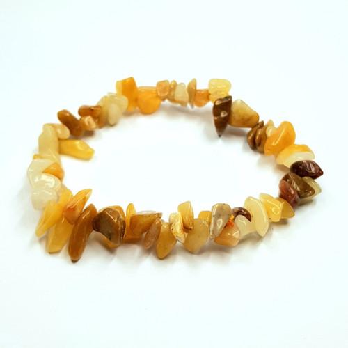 Aragonite Gemstone Chip Stretch Bracelet