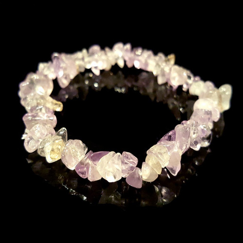 Ametrine Gemstone Chip Bracelet