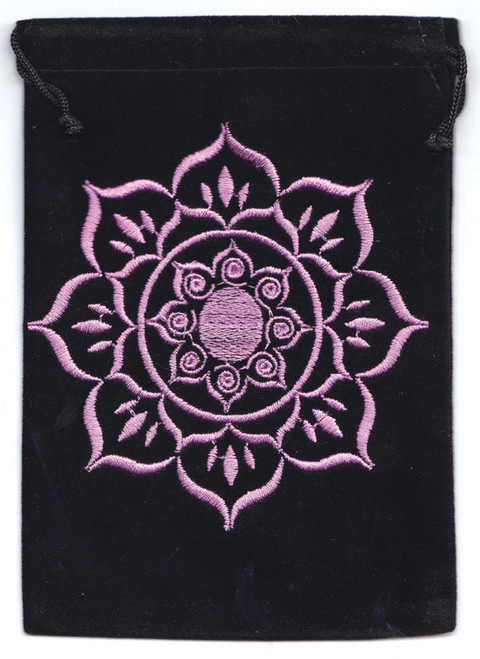 Lotus Velveteen Bag