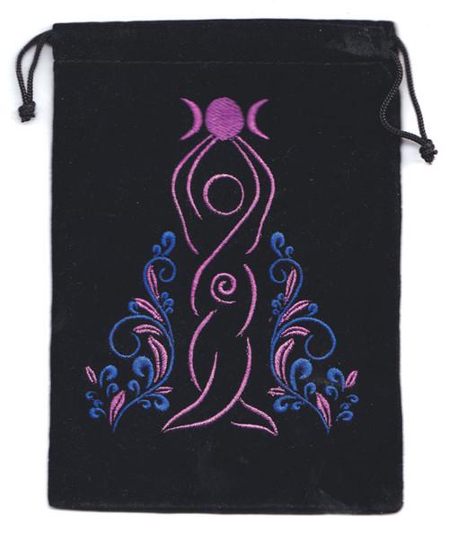 Goddess Velveteen Drawstring Tarot Bag 18cm