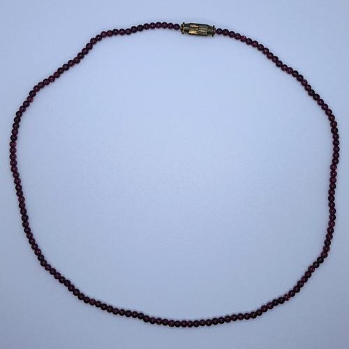 Garnet Gemstone Mini Bead Necklace 42cm