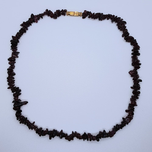 Garnet Gemstone Chip Necklace 41cm