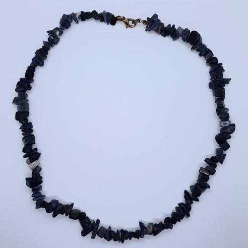 Lapis Lazuli Gemstone Chip Necklace 44cm