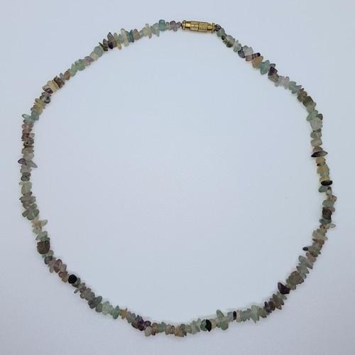 Fluorite Gemstone Chip Necklace (B grade) 40cm