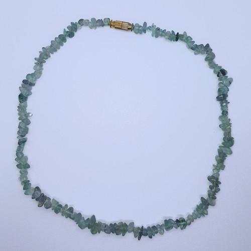 Fluorite Gemstone Chip Necklace 41cm