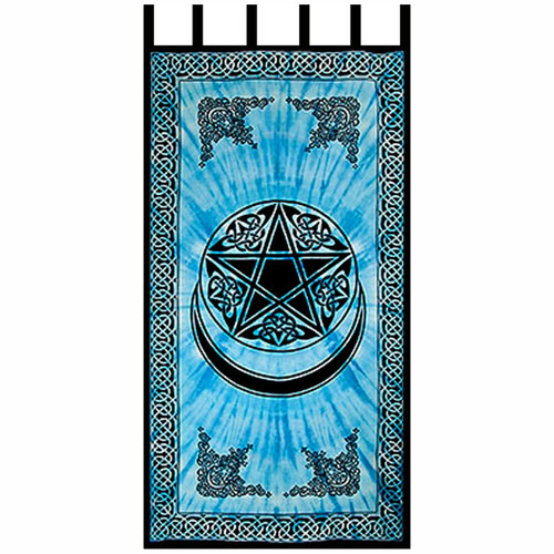Pentacle with Moon Crescent Curtain