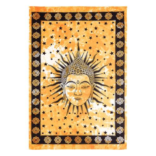 Tapestry Buddha Head Tie Dye  150cm x 228cm 100% Cotton