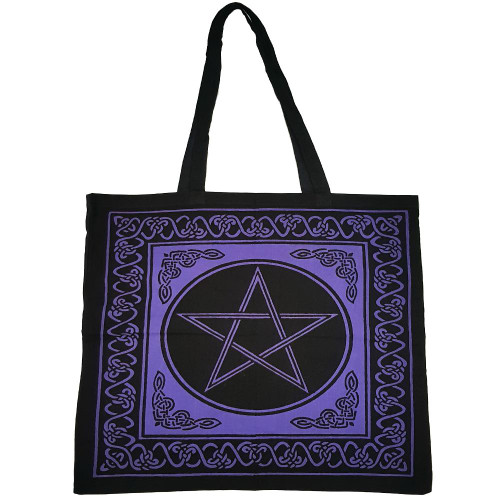 Purple Pentacle Tote Bag