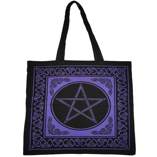 Purple Pentacle Tote Bag
