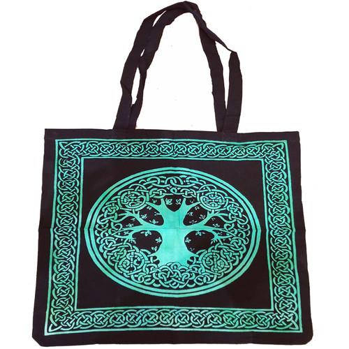 Tree of Life Green Tote Bag