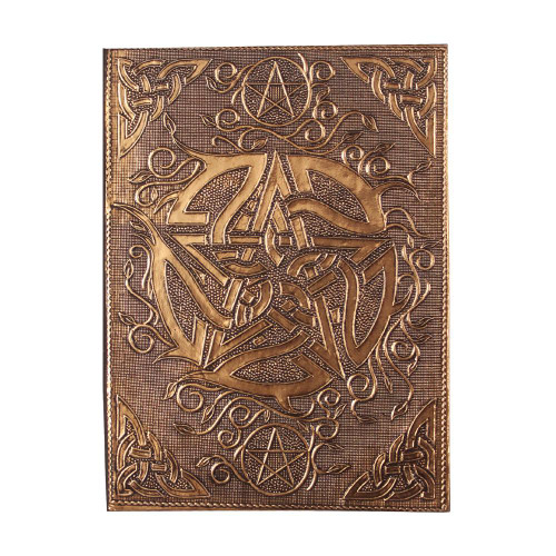 Copper Plated Pentacle Spell Book / Journal 18cm x 13cm