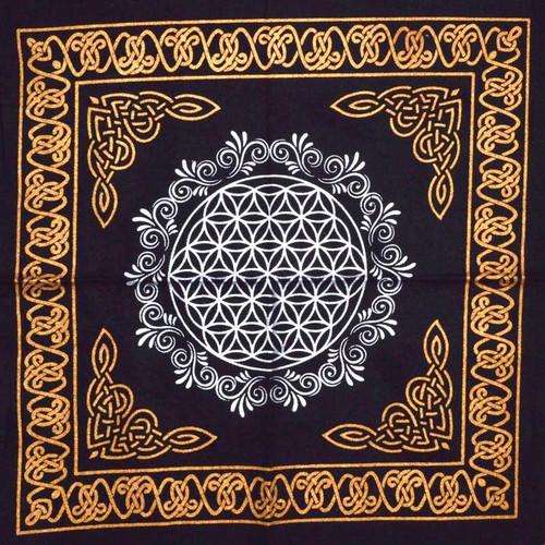 "Sacred Geometry ""Flower of Life"" Altar Cloth 45cm"