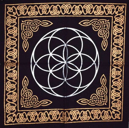 "Sacred Geometry ""Seed of Life"" Altar Cloth 45cm"